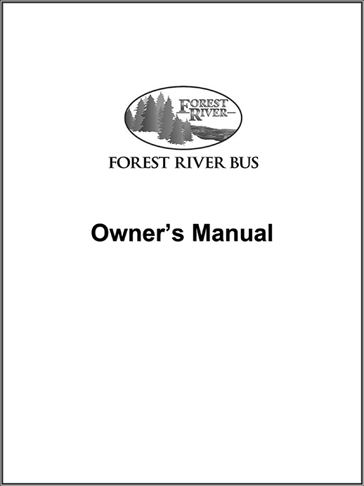 Forest River Bus Owners Manual