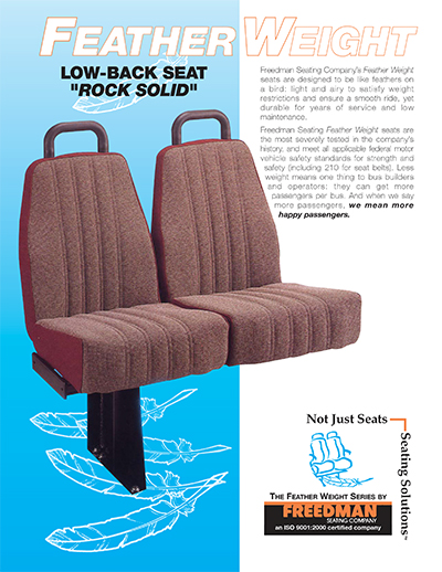 Feather Weight Low-Back Seats